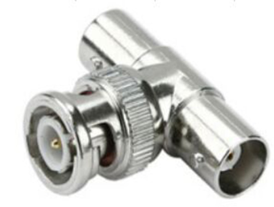 BNC Male to 2 BNC Female T Connector